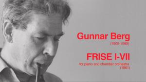Gunnar Berg Frise Koncert klippe opgave.